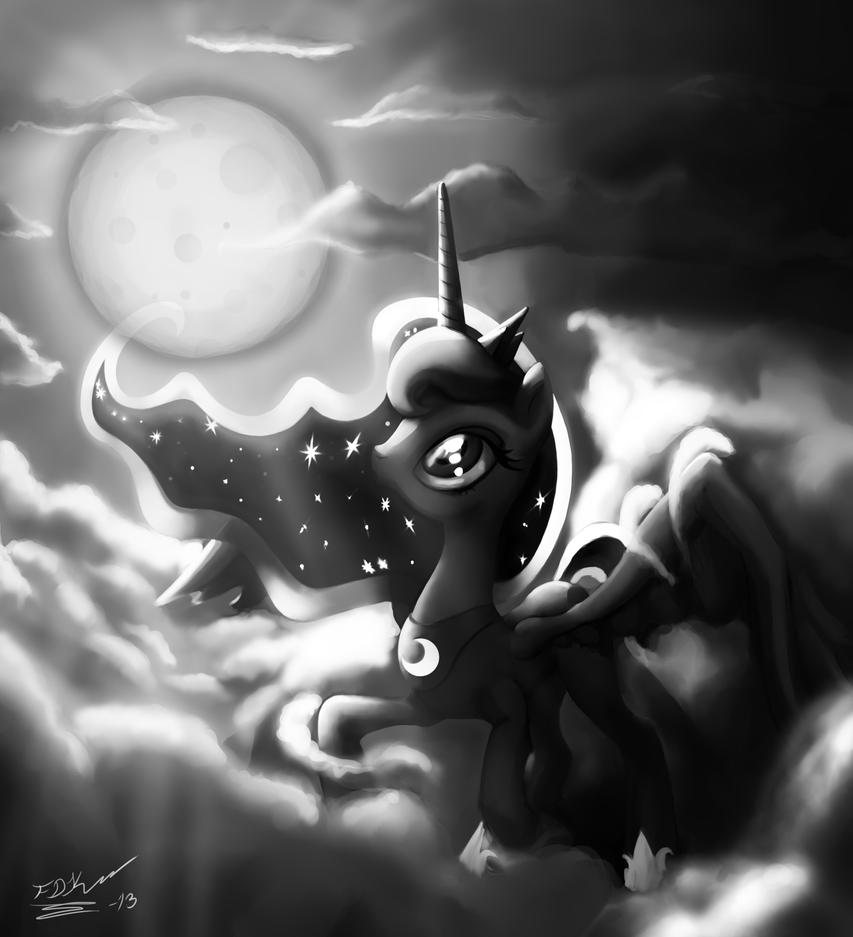 princess luna princess luna and the moon by deathknightcommander on princess luna
