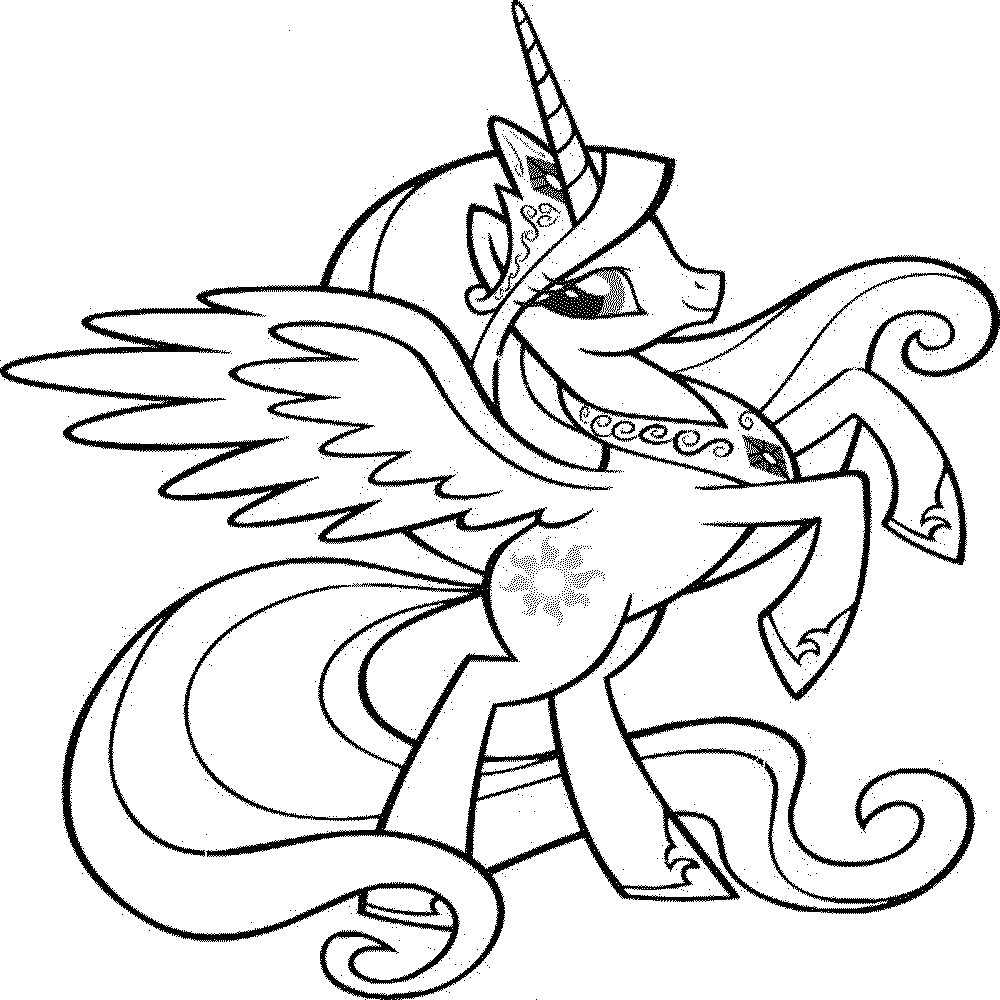 princess pony coloring pages princess cadence my little pony coloring page coloring home princess pages pony coloring