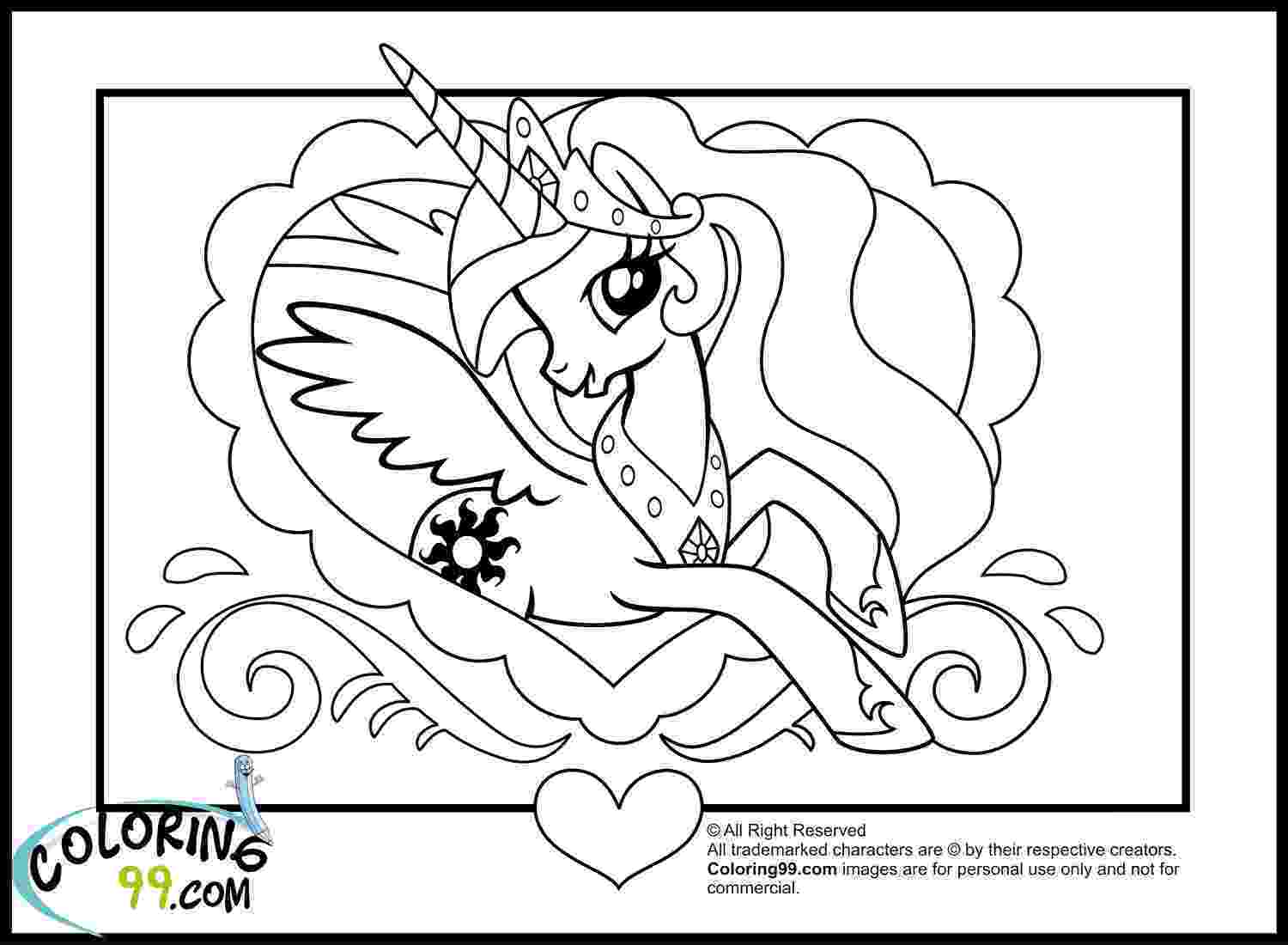 princess pony coloring pages print download my little pony coloring pages learning princess pony coloring pages