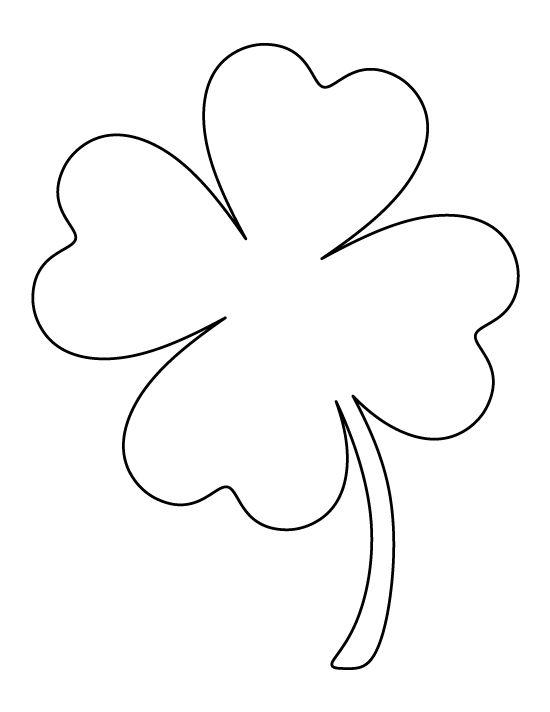 printable 4 leaf clover 5 best images of four leaf shamrock template printable 4 printable clover leaf