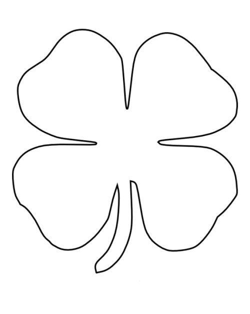 printable 4 leaf clover clover clip art black and white clipart best 4 clover leaf printable