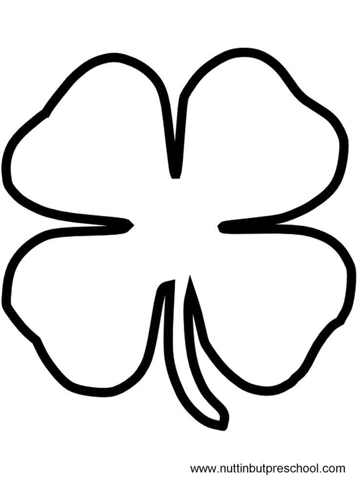 printable 4 leaf clover four leaf clover coloring for kids coloring pages for clover 4 leaf printable