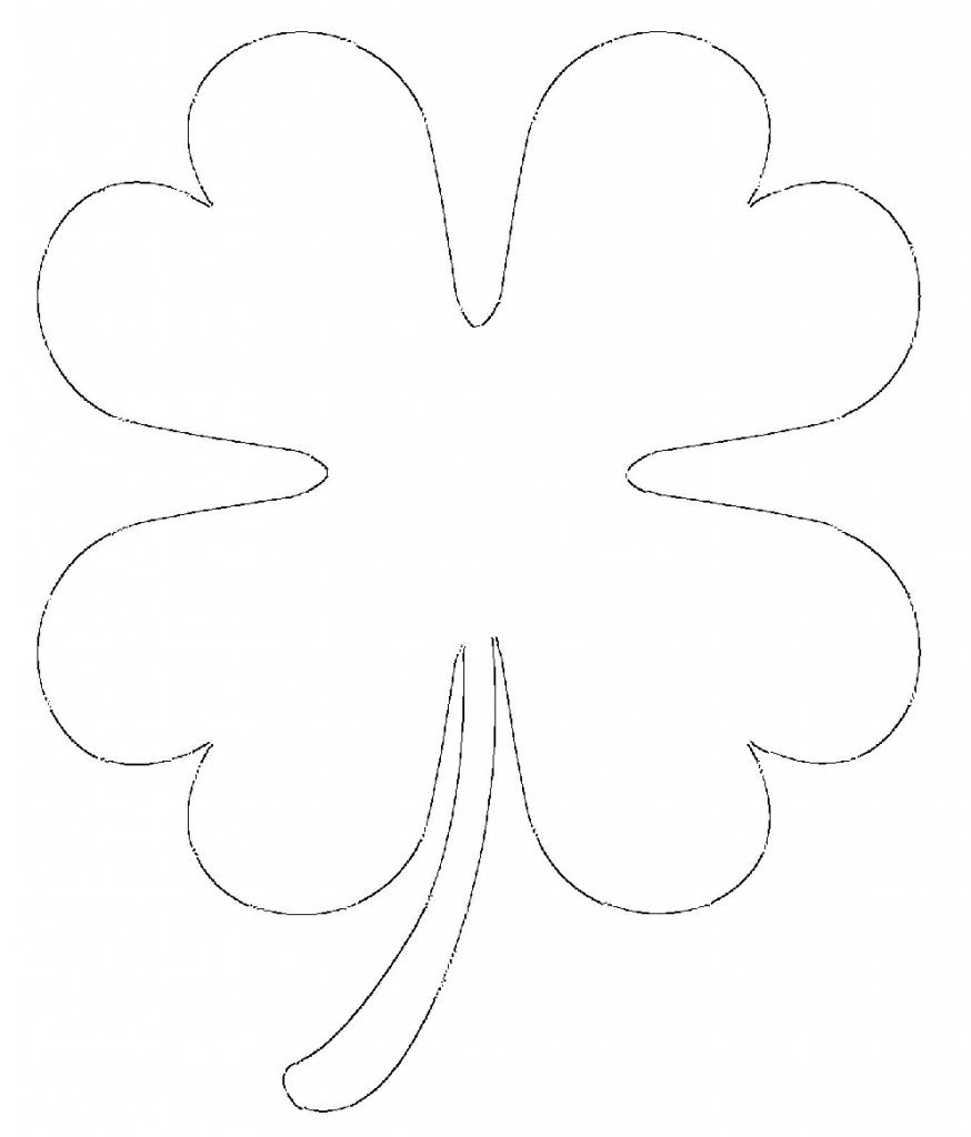 printable 4 leaf clover four leaf clover coloring pages best coloring pages for kids clover leaf printable 4