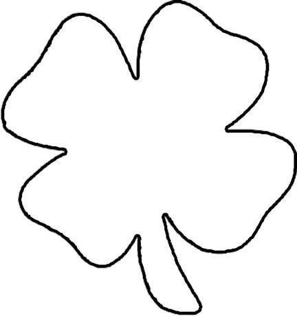 printable 4 leaf clover four leaf clover outline clipartsco 4 printable clover leaf