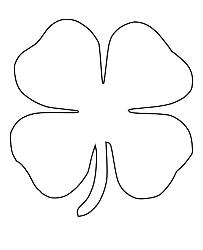 printable 4 leaf clover four leaf clover printables clipart best leaf 4 clover printable