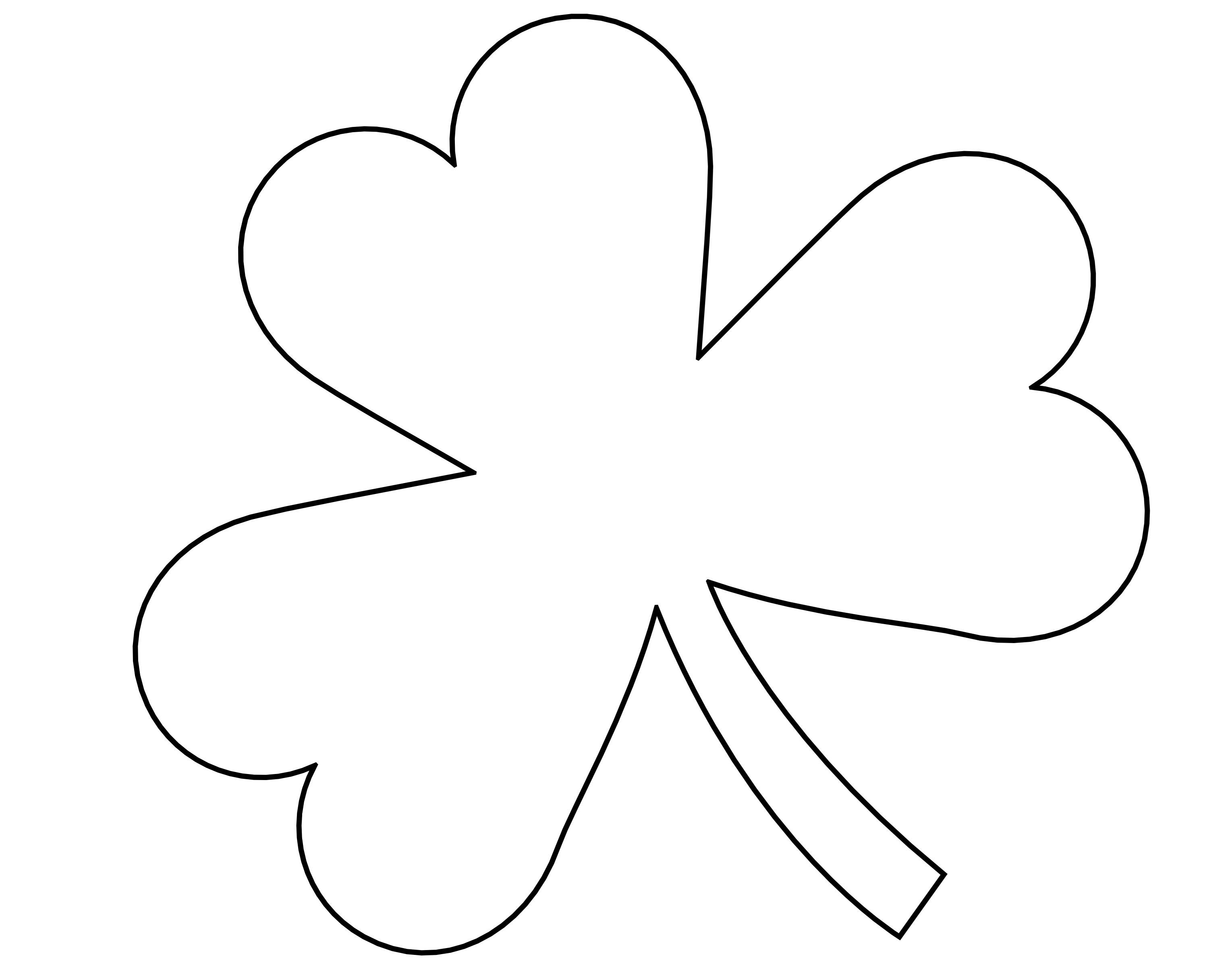 printable 4 leaf clover four leaf clover vector clip art at clkercom vector 4 printable leaf clover