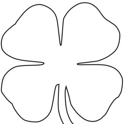 printable 4 leaf clover free four leaf clover outline download free clip art printable leaf 4 clover