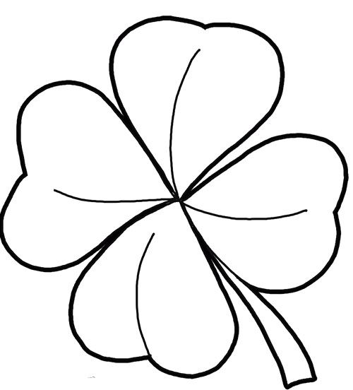 printable 4 leaf clover free printable four leaf clover templates large small printable clover 4 leaf