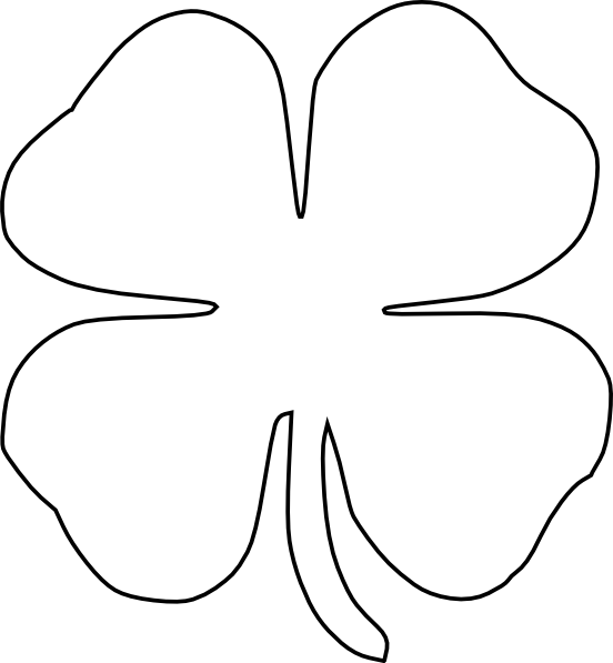printable 4 leaf clover printable 4 leaf clover coloring home printable 4 clover leaf