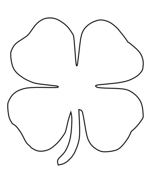 printable 4 leaf clover printable four leaf clover pattern or coloring page clover printable leaf 4