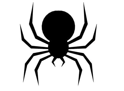 printable black spiders spider halloween template woo jr kids activities spiders black printable