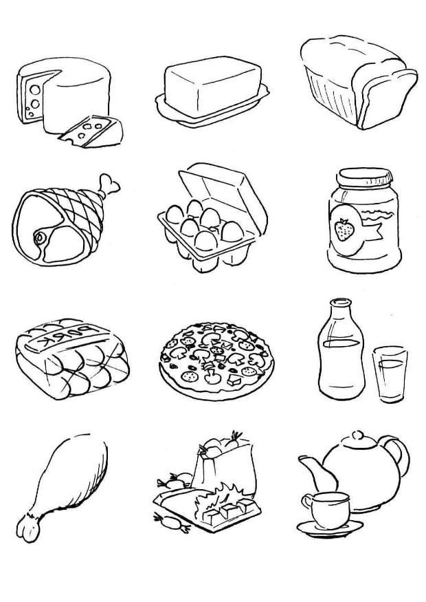 printable coloring food pages picnic basket food coloring page free printable coloring pages coloring food printable