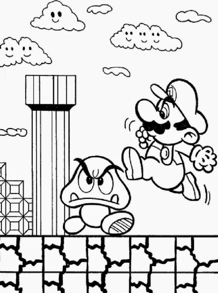printable coloring games games coloring pages super mario games coloring printable