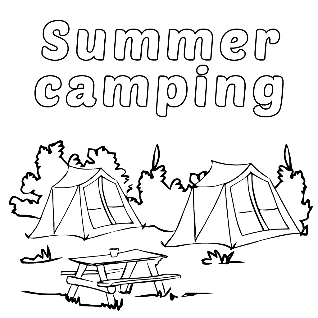 printable coloring pages camping happyville camping 1 adult coloring book page printable camping printable pages coloring