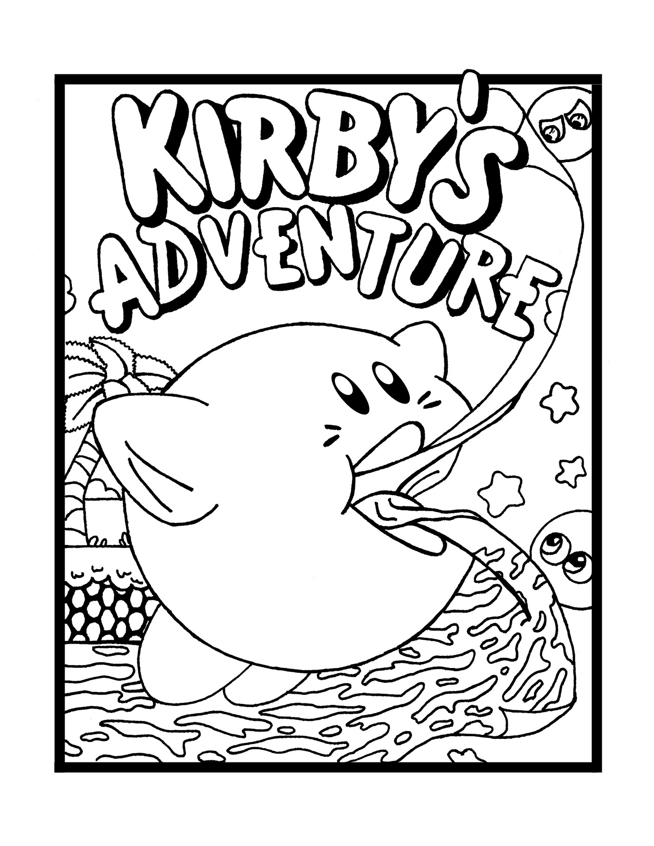 printable coloring pages kirby kirby coloring pages ganon39s jar printable pages coloring kirby