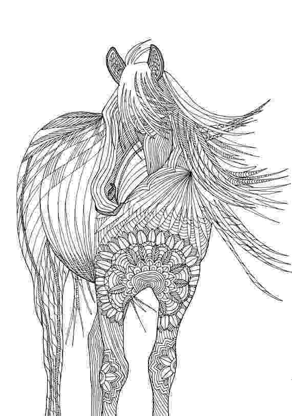 printable coloring pages of animals horse coloring pages preschool and kindergarten pages coloring printable animals of