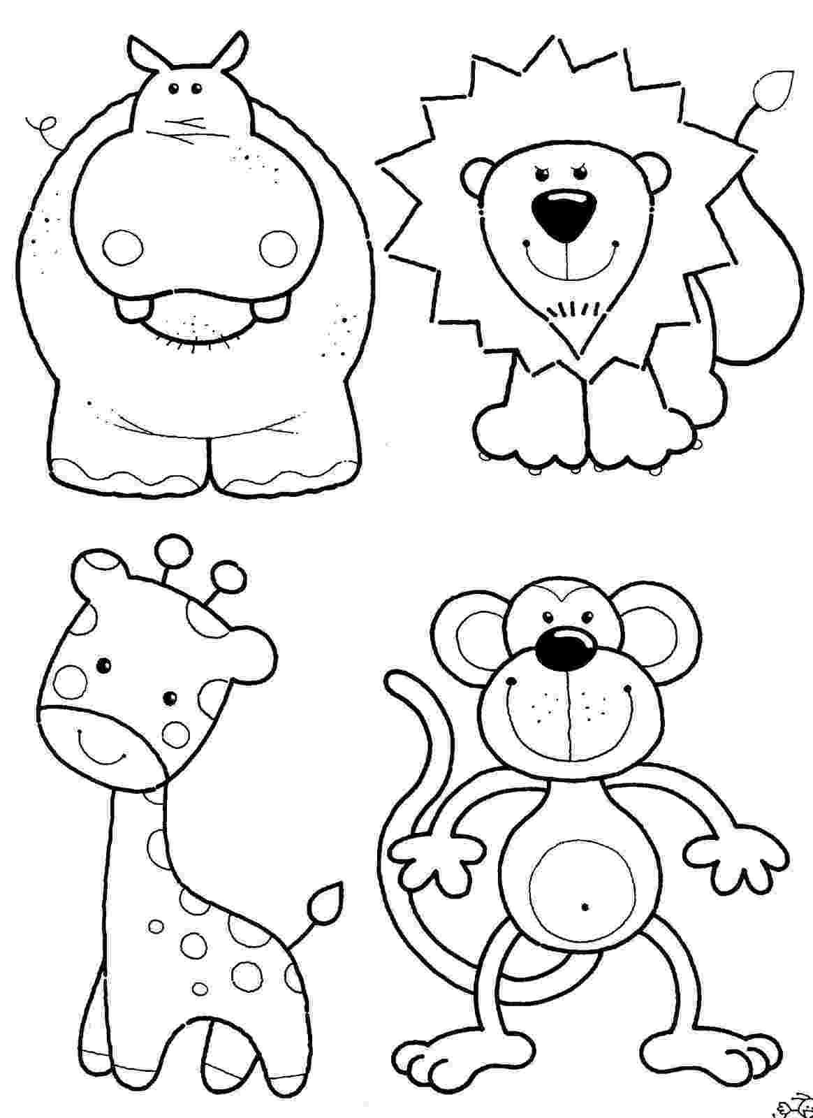 printable coloring pages of animals safari animals coloring pages getcoloringpagescom animals coloring pages printable of