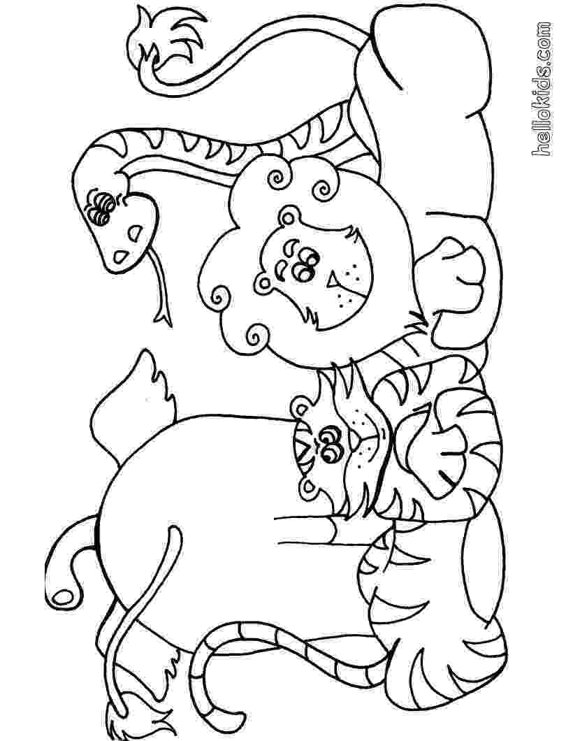 printable coloring pages of animals wild animal coloring pages hellokidscom animals coloring printable pages of