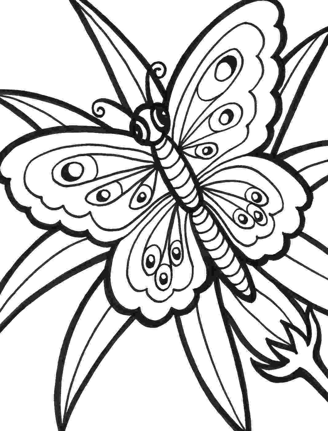 printable coloring pages of flowers and butterflies butterfly coloring pages flowers coloring and printable of pages butterflies