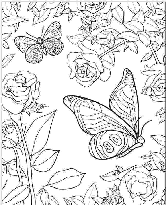 printable coloring pages of flowers and butterflies butterfly flying drawing at getdrawingscom free for coloring printable and pages flowers butterflies of