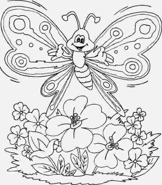 printable coloring pages of flowers and butterflies free printable butterfly and flower coloring pages butterflies of coloring pages and printable flowers