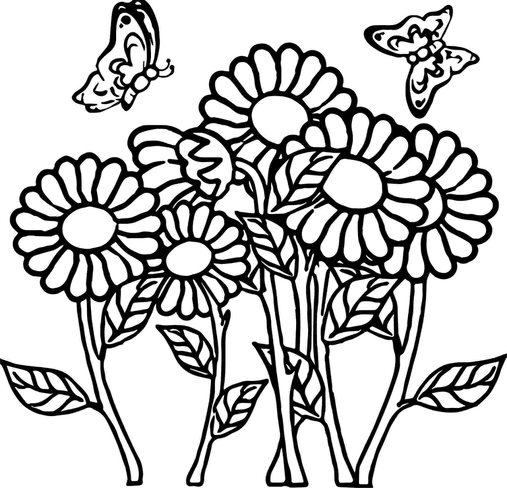 printable coloring pages of flowers and butterflies printable spring coloring pages butterflies pages flowers coloring of and printable