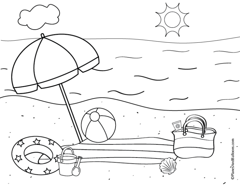 printable coloring pages summer activities preschool summer coloring page getcoloringpagescom activities printable summer pages coloring
