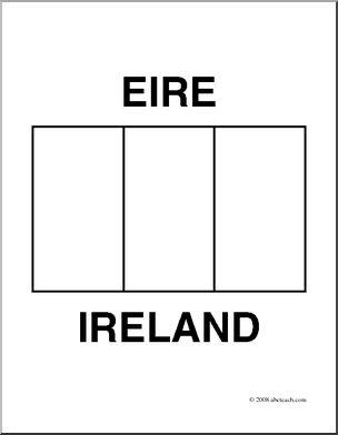 printable flag of ireland clip art flags ireland coloring page abcteach of printable flag ireland