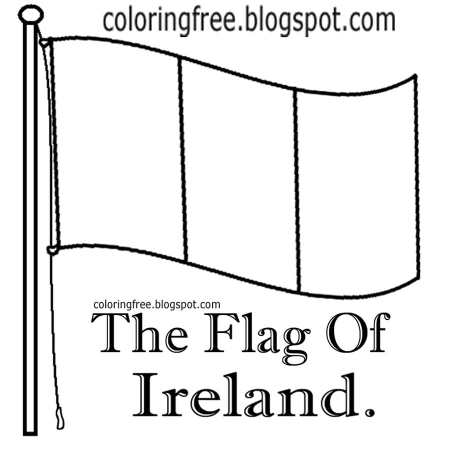 printable flag of ireland free coloring pages printable pictures to color kids flag printable ireland of