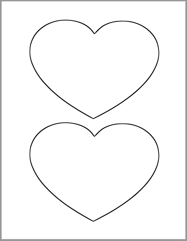 printable images of valentine hearts 6 inch heart printable template large heart cutout valentine images hearts of printable