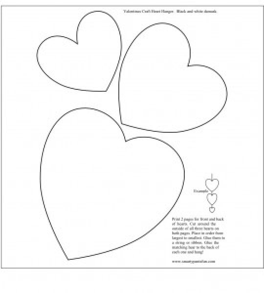 printable images of valentine hearts print out these 6 sweet and free heart templates valentine of printable images hearts