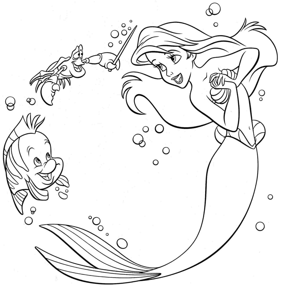 printable little mermaid coloring pages ariel coloring pages best coloring pages for kids printable coloring little pages mermaid