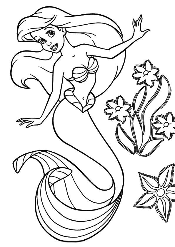 printable little mermaid coloring pages print coloring image momjunction mermaids mermaid little mermaid pages coloring printable