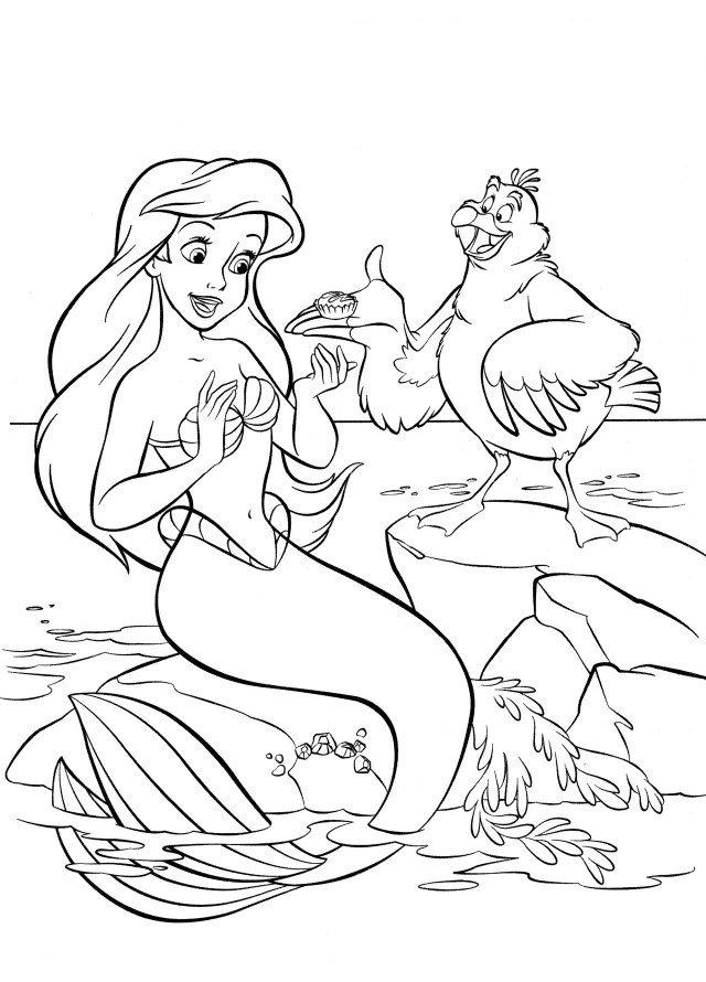 printable little mermaid coloring pages the little mermaid scuttle coloring pages images amp little coloring printable mermaid pages