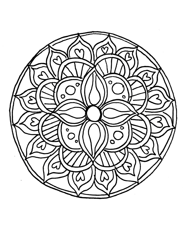 printable mandala coloring 12 flower mandala printable coloring page mandala printable coloring