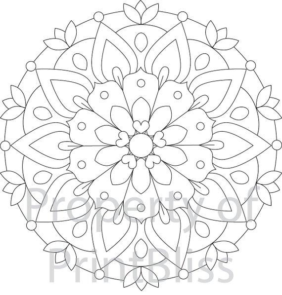 printable mandala coloring 2 flower mandala printable coloring page coloring printable mandala
