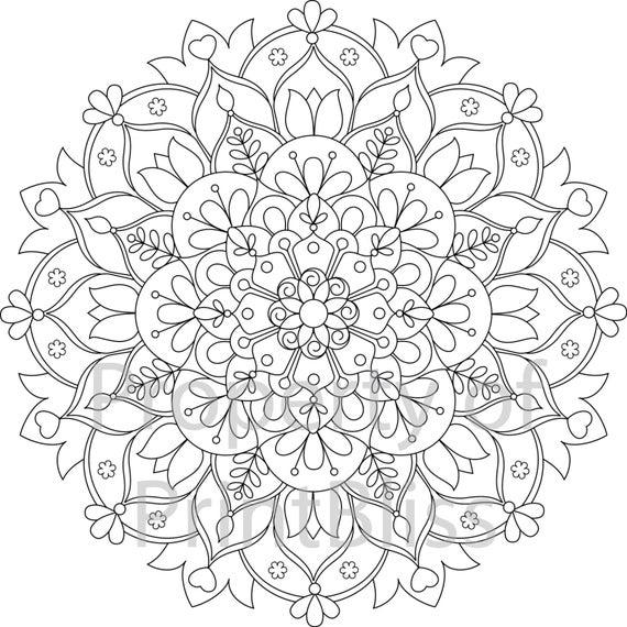 printable mandala coloring flower mandala coloring page free printable coloring pages coloring mandala printable