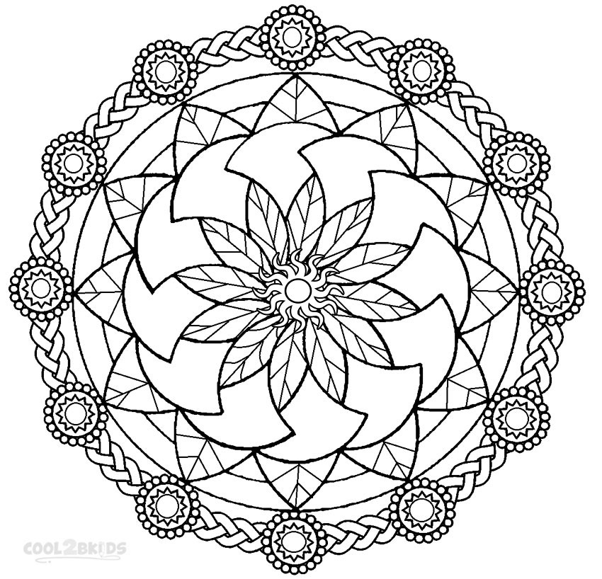 printable mandala coloring free mandala printable coloring page kids bloom coloring printable mandala