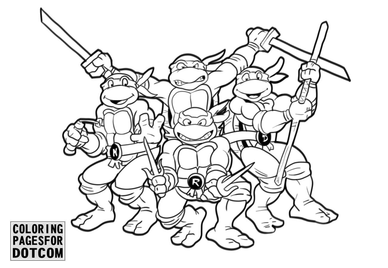 printable ninja turtle coloring pages ninja turtles coloring pages 1 printable coloring book coloring ninja pages turtle printable