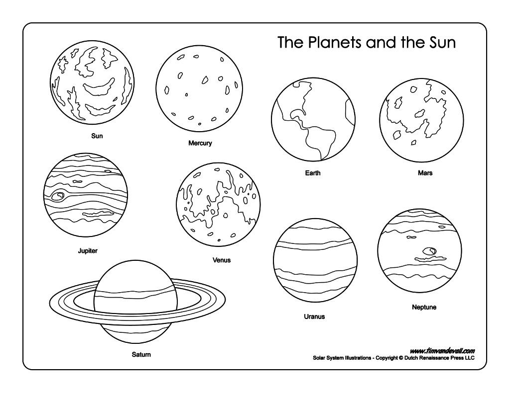 printable solar system coloring pages planet coloring pages with the 9 planets nine planets printable coloring solar system pages