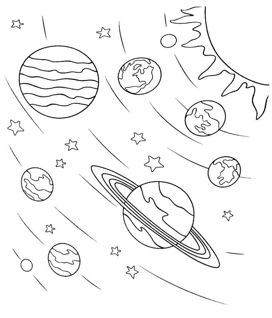 printable solar system coloring pages printable solar system coloring pages for kids cool2bkids system solar pages coloring printable