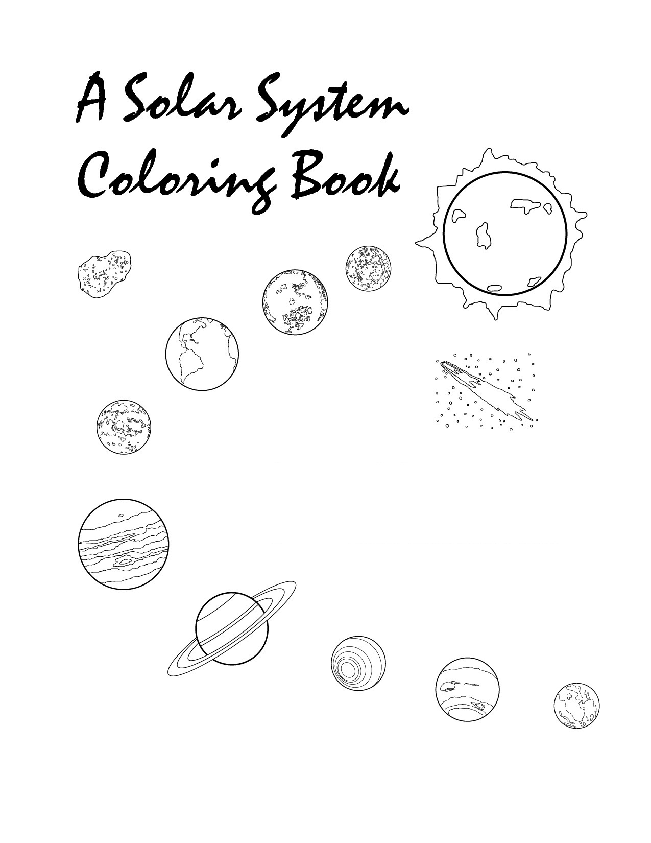printable solar system coloring pages solar system coloring pages 360coloringpages solar coloring system printable pages