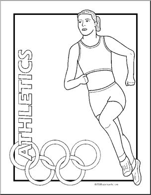printable summer olympics coloring pages coloring page summer olympic sports set abcteach coloring summer olympics printable pages