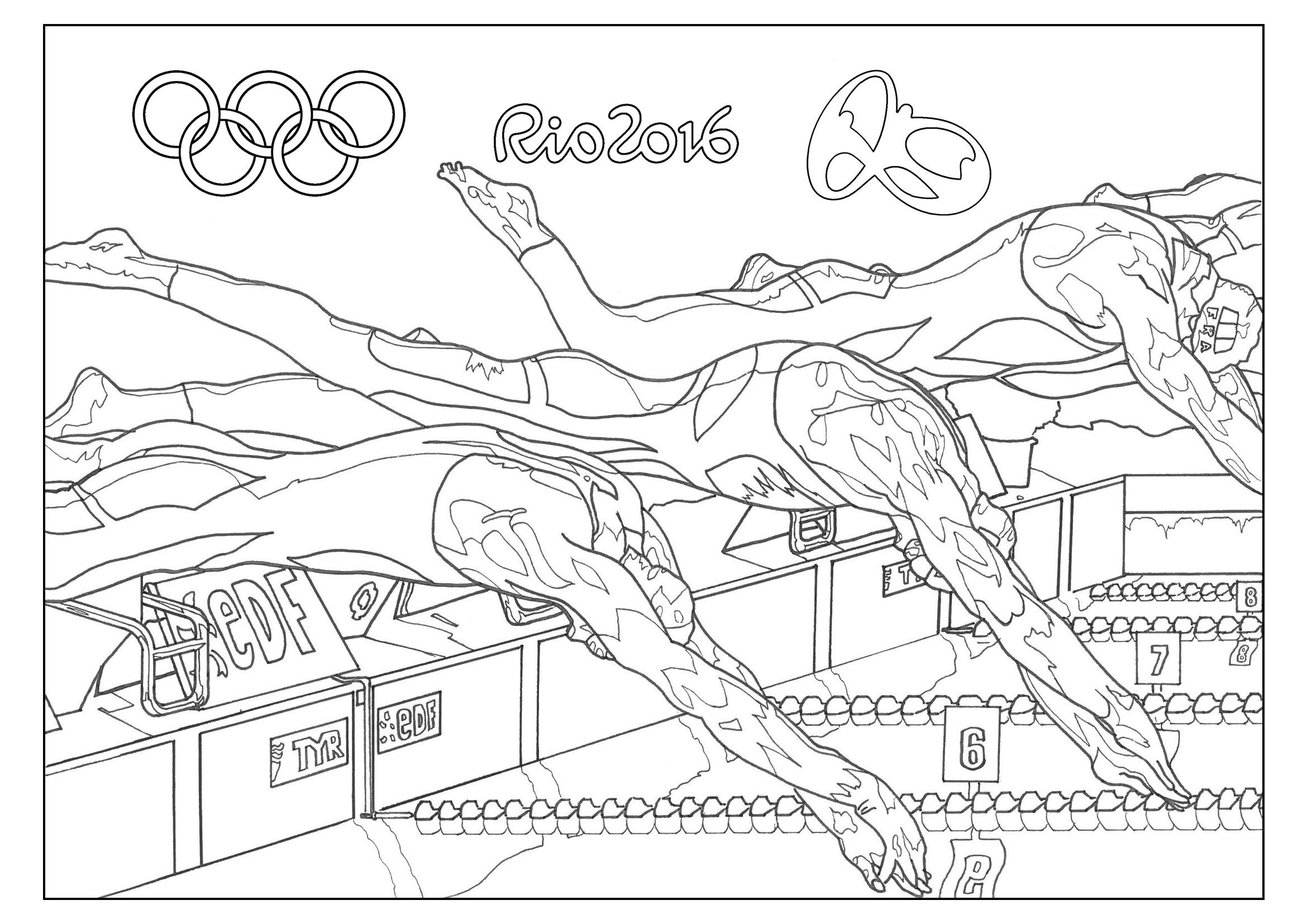 printable summer olympics coloring pages coloring page summer olympics swimming synchronized printable pages summer coloring olympics