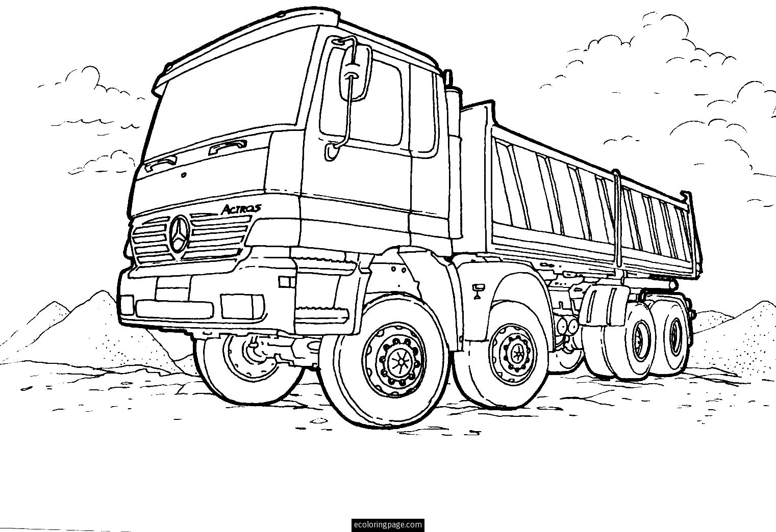 printable truck coloring pages 40 free printable truck coloring pages download coloring truck printable pages