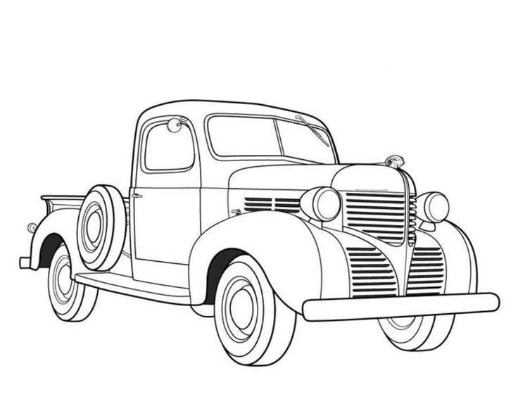 printable truck coloring pages instant download vintage 1957 chevy pickup truck printable printable coloring pages truck