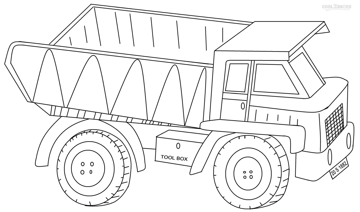 printable truck coloring pages printable dump truck coloring pages for kids cool2bkids printable coloring truck pages