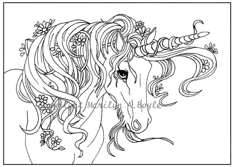 printable unicorn adult coloring page digital download unicorn flowers unicorn printable