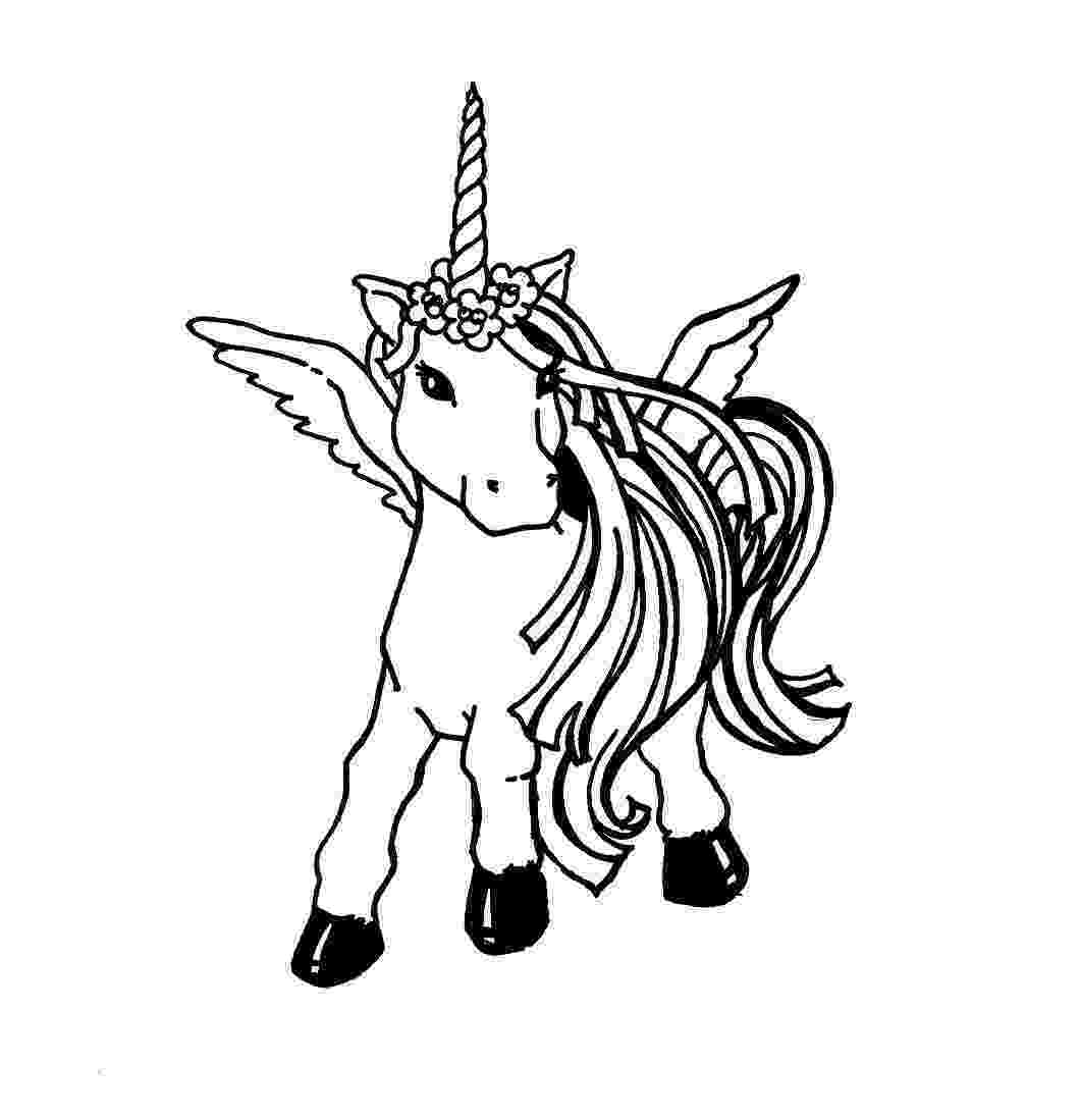 printable unicorn cute winged unicorn coloring page free printable unicorn printable