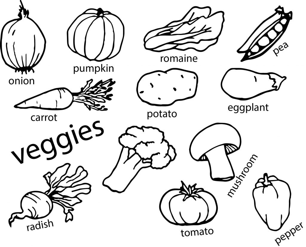 printable vegetable coloring pages printable healthy eating chart coloring pages vegetable printable coloring pages